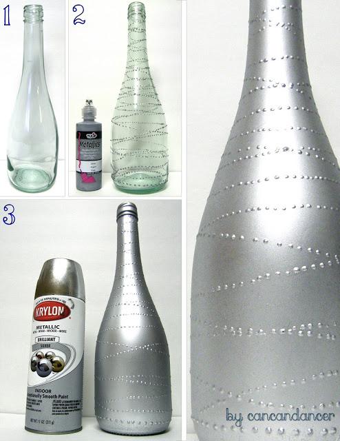Sama wykonasz efektowne dekoracje ze szklanych butelek. Nie znajdziesz takich w sklepach