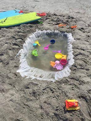 basen na plaży