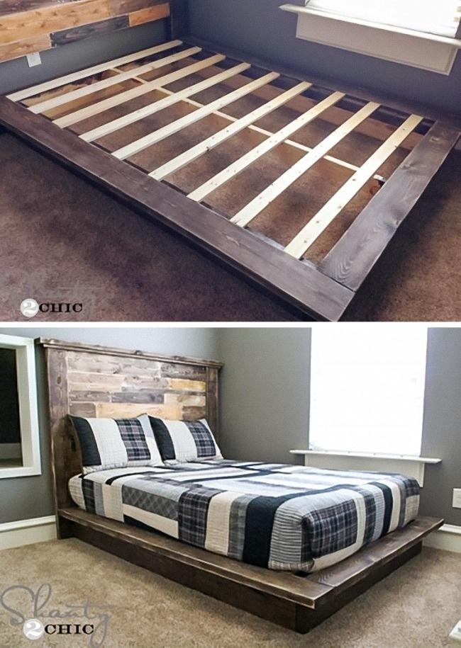 Genialne łóżko z palet