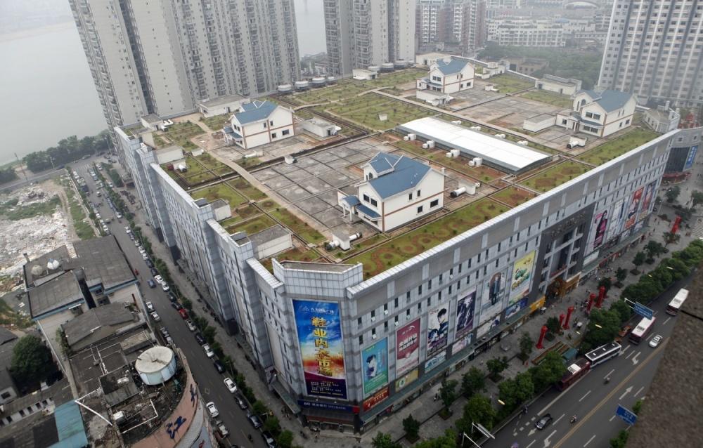 #1 Domy na szczycie centrum handlowego, Chiny
