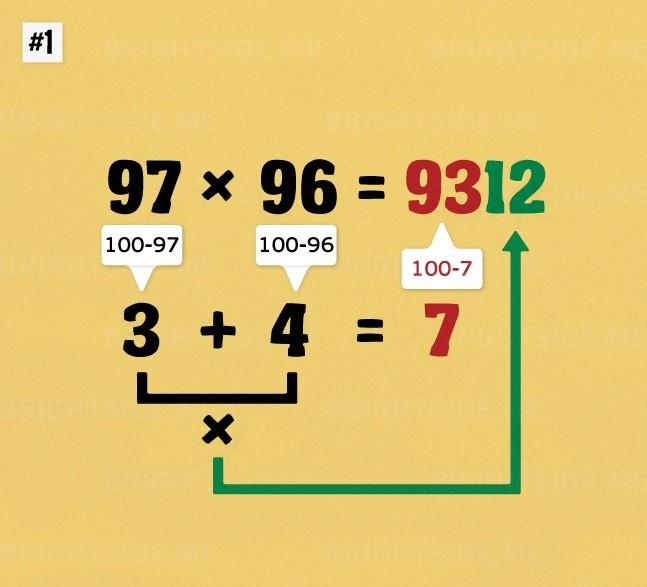 Matematyczne triki - Mnożenie dużych liczb w pamięci