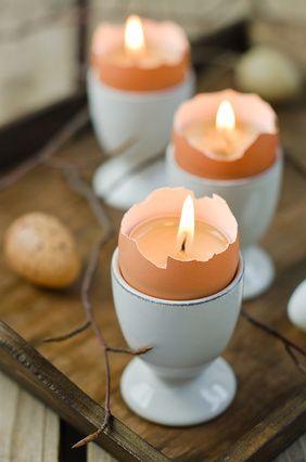 WIELKANOCNE OZDOBY - jajeczne świeczniki