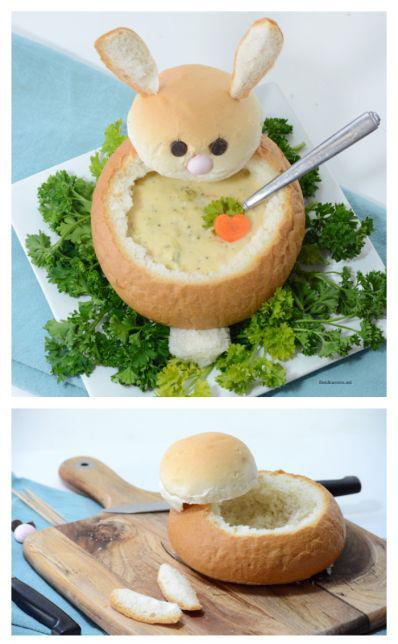 WIELKANOCNE OZDOBY - chlebowy królik