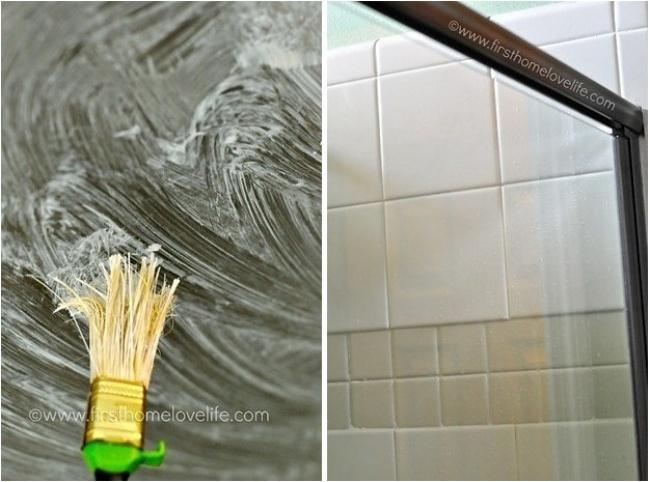 triki sprzątaczek 7 - osad na prysznicu