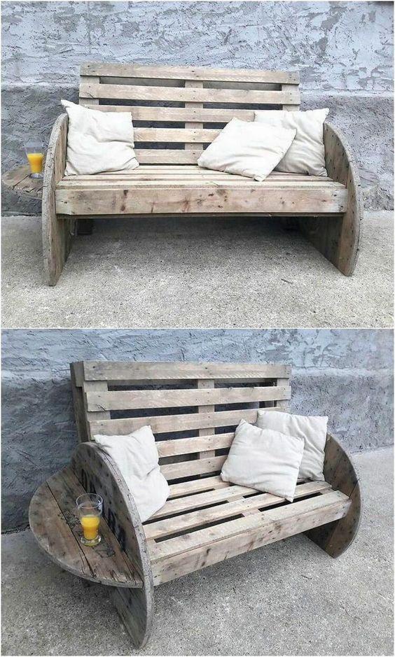 Drewniane meble ogrodowe - ławeczka