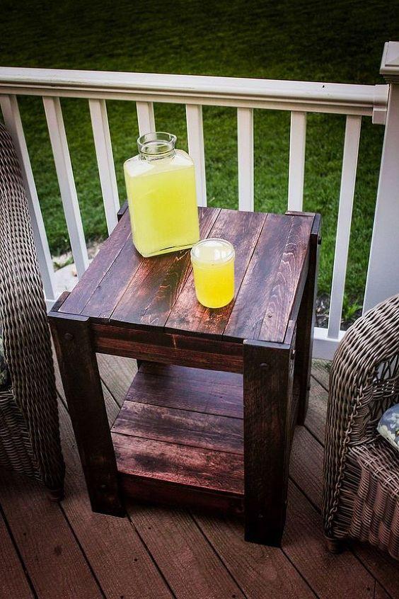 Drewniane meble ogrodowe - stolik