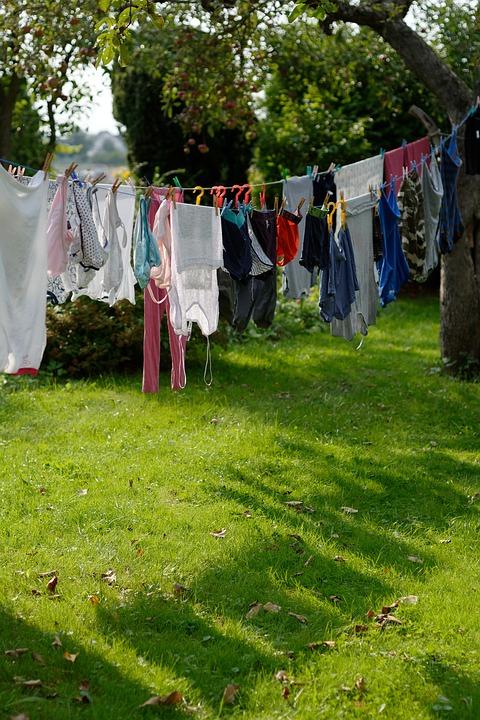 rozwieszanie prania