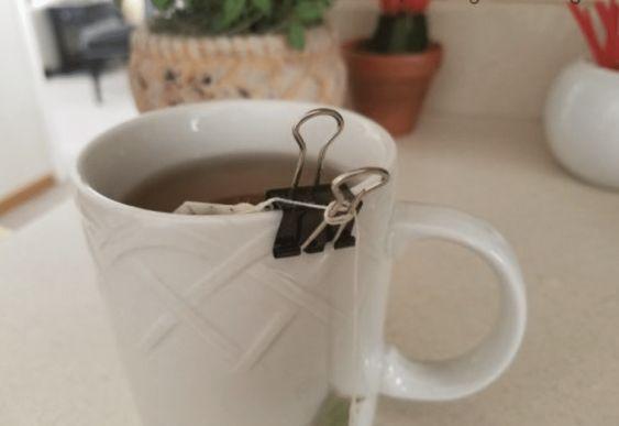 klipsy biurowe - herbata