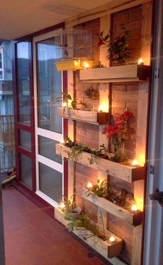 pomysły na balkon - lampiony