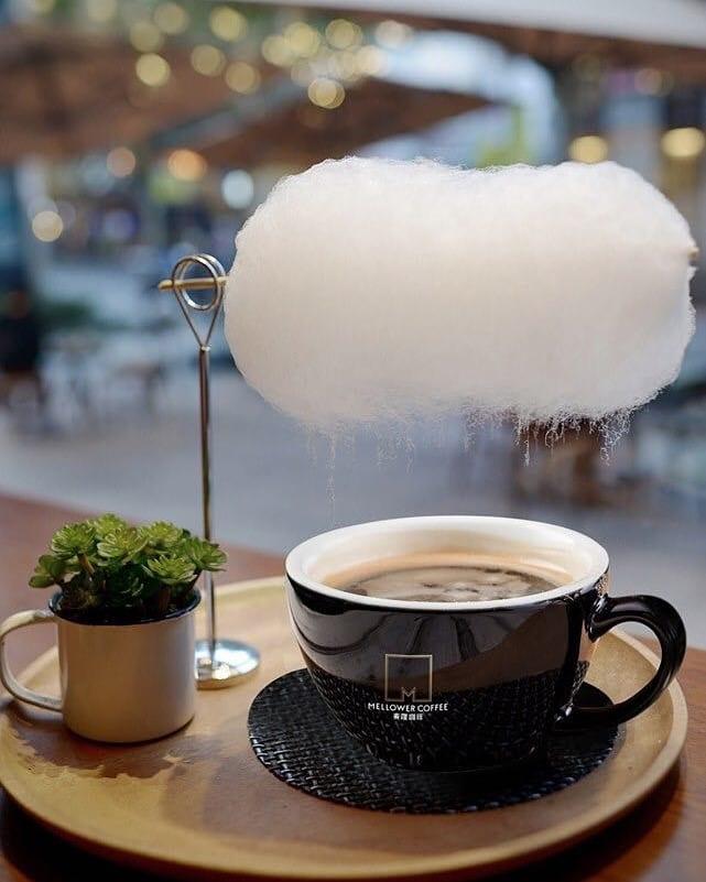 nietypowe serwowanie kawy - chmurka