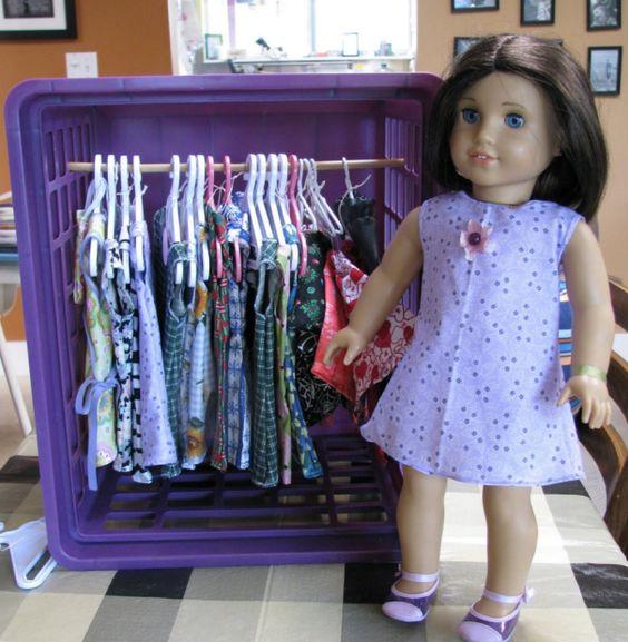 przechowywanie zabawek diy ubranka dla lalek