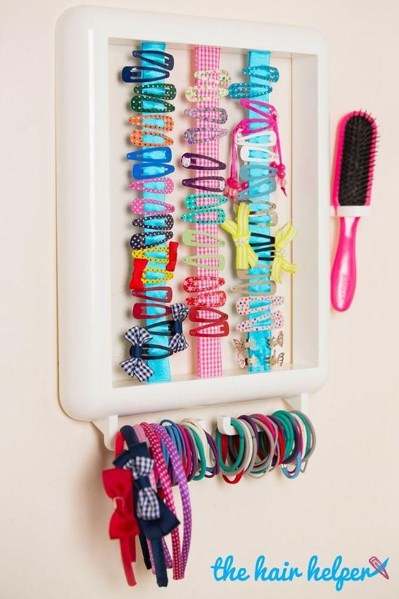 organizacja spinek i gumek do włosów dla dzieci
