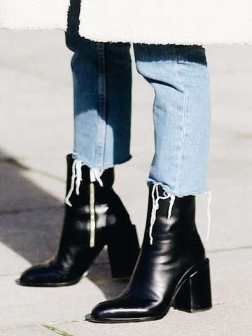 stylowe porady - czarne botki