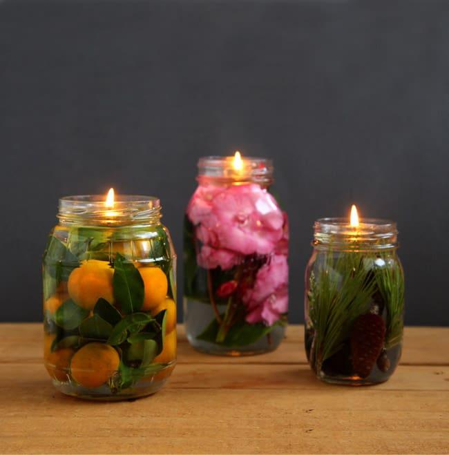 świeczka w słoiku - inspiracja 2