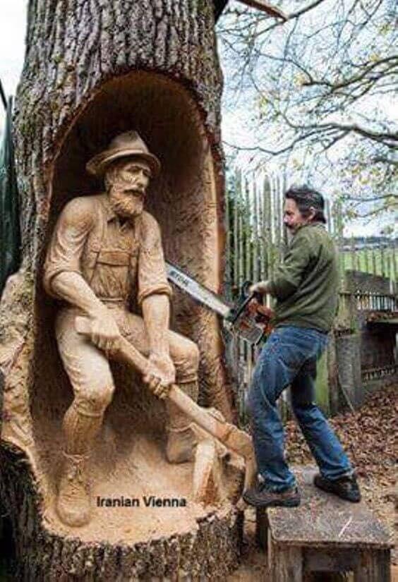 rzeźby z drewna 0