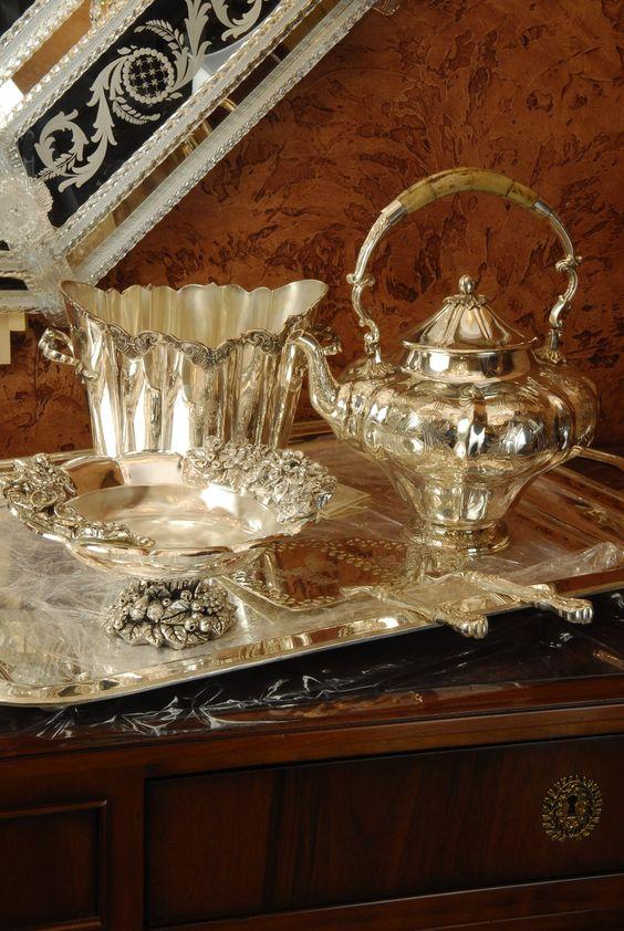 srebrne naczynia