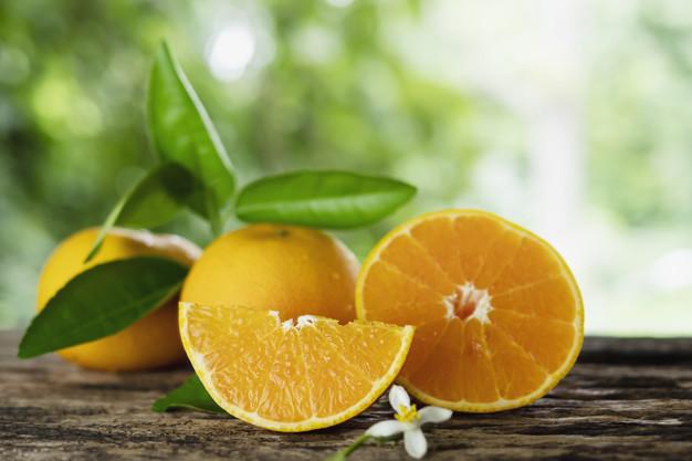 pomarańcze z listkami