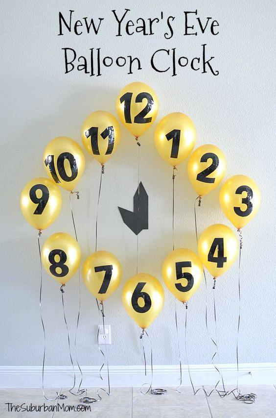 zegar z balonów