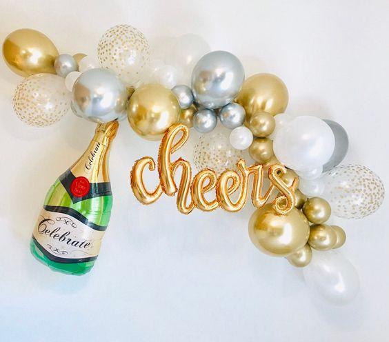 balony z szampanem
