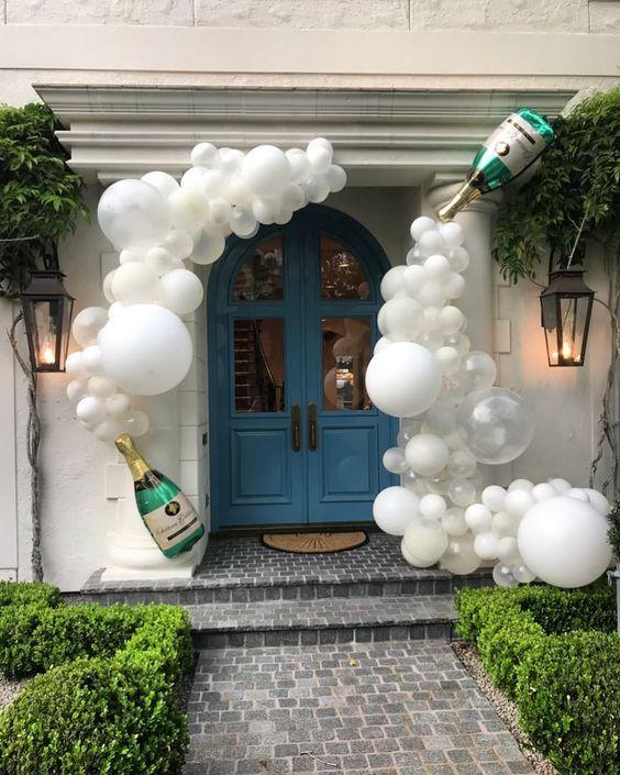 balony na wejściu