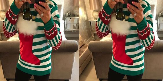 sweter na wino
