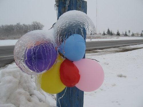 zamarznięte balony