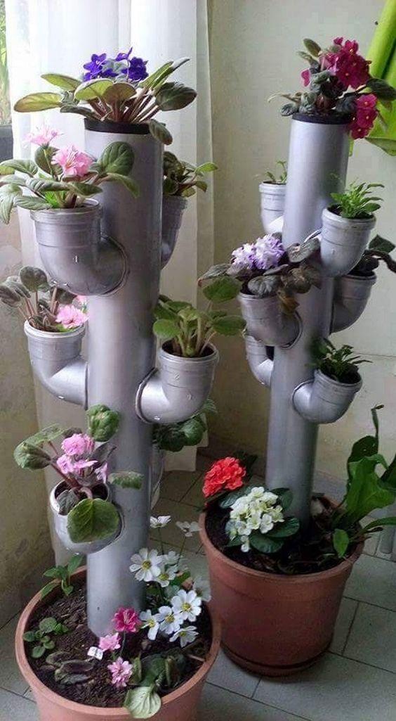 stojak na kwiaty z rur