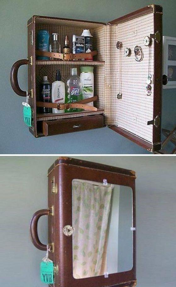 walizka szafka łazienkowa