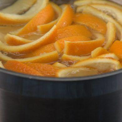 gotowanie skórek pomarańczy