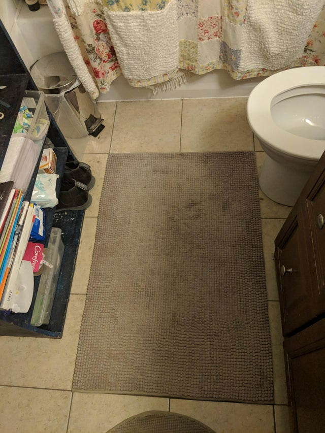 dywanik w łazience