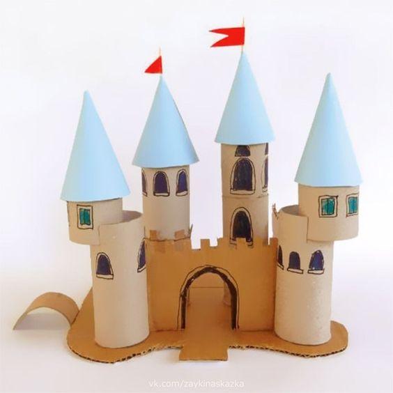 zamek z rolek po papierze