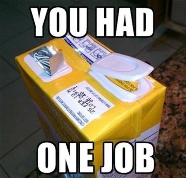 mleko w kartoniku ze złym zamknieciem