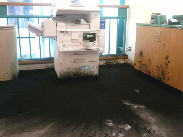 pech drukarka wybuchła tonerem