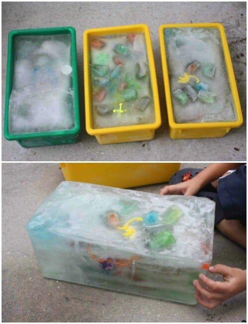 zabawa dla dzieci z lodem