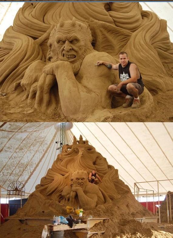 30 zjawiskowych rzeźb ulepionych z piasku. Prawdziwe dzieła sztuki!