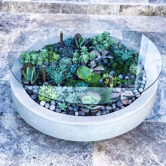 17 ciekawych pomysłów na to, jak zamienić stół w mini ogród pełen wyjątkowych sukulentów