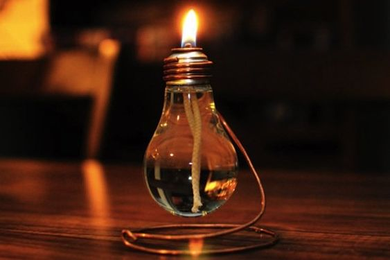 lampa z żarówki