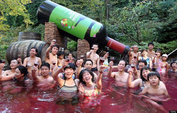 kąpiel w winie