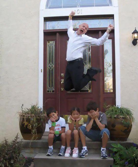 śmieszne zdjęcia - szczęśliwy tata