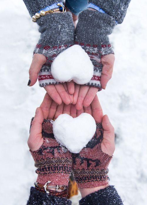 serduszka ze śniegu