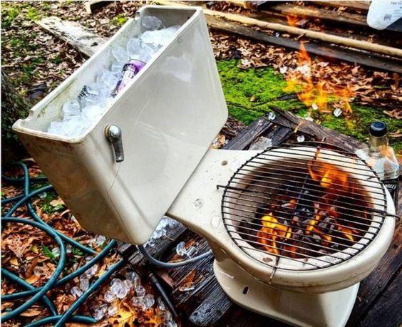grill z toalety