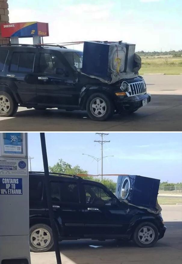 auto z pralką